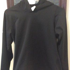 Black long sleeve stretchy hoodie